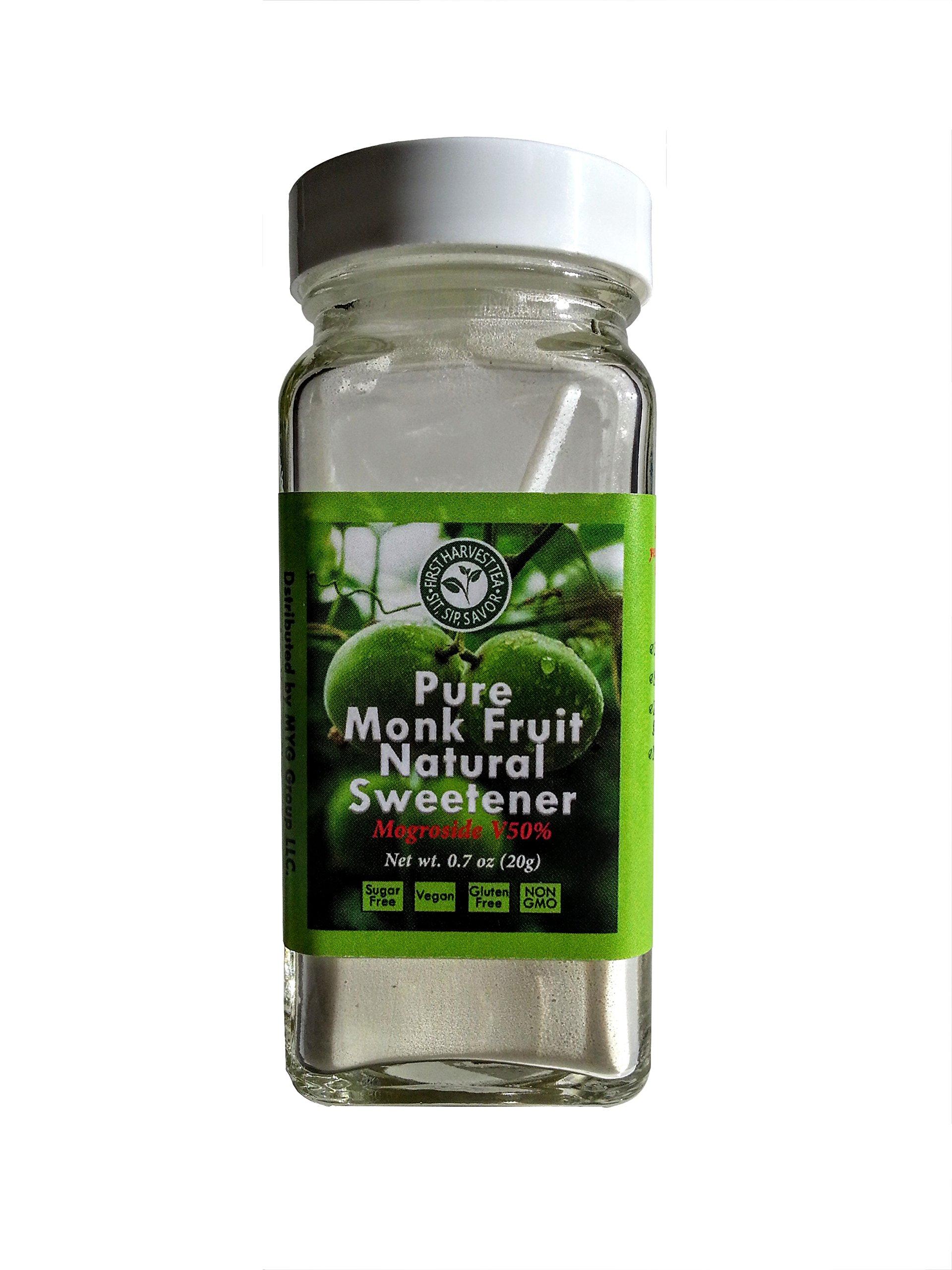 First Harvest Tea Monk Fruit Mogroside V50% Concentrated Powdered Sweetner - .7oz