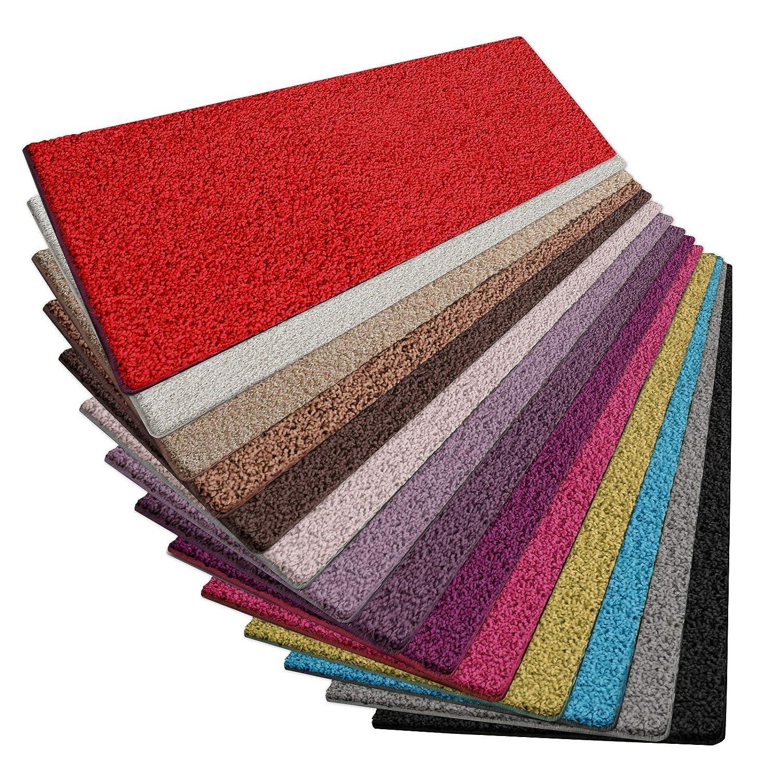 casa pura Shaggy Teppich Läufer Barcelona   weicher Hochflor Teppichläufer für Flur, Wohnzimmer, Schlafzimmer etc.   GUT-Siegel und Blauer Engel   viele Größen   Moderne Farben   200x150 cm   Rot