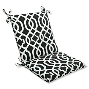 Pillow Perfect Outdoor New Geo Squared Corners Chair Cushion, Black/White