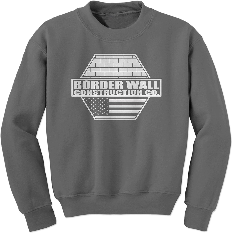 FerociTees Border Wall Construction Company Trump Borderwall Crewneck Sweatshirt