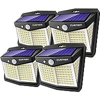 Luz LED Solar Exterior, Claoner 128 LED/ 3 Modos Luz Solar Exterior con Sensor de…