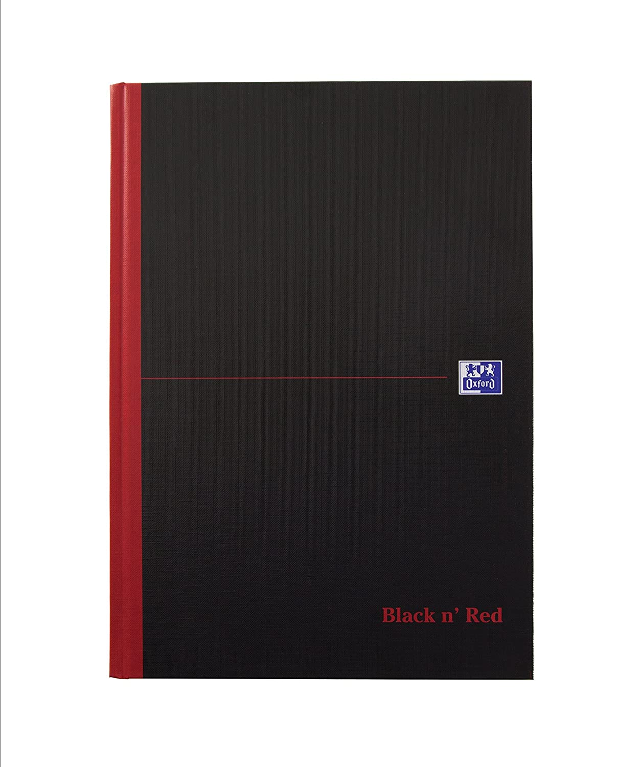 Quaderno rigido, 192 pagine, rosso e nero Singolo B5 Black/Red Oxford Black n' Red 400082917