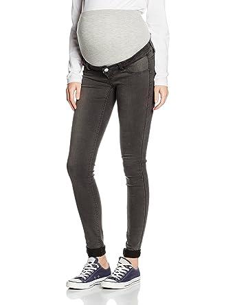 Womens Mlella Skinny Dark Grey Maternity Jeans Mama Licious B6HRxGtRM