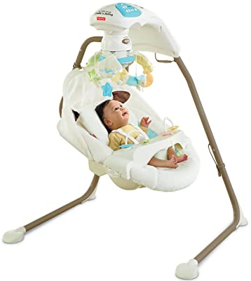 Fisher Price Cradle 'n Swing with ac adapter my little lamb best price