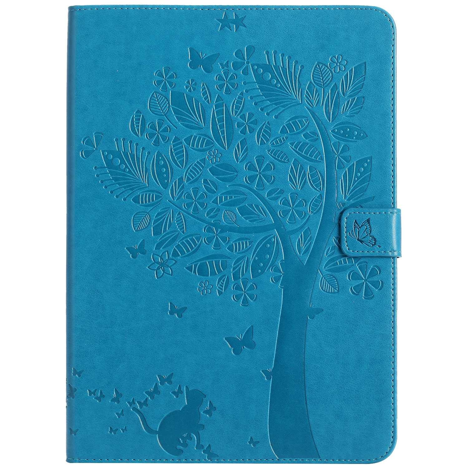 Bear Village iPad Air 2 (9.7 Inch) Case, Leather Magnetic Case, Fullbody Protective Cover with Stand Function for Apple iPad Air 2 (9.7 Inch), Blue by Bear Village