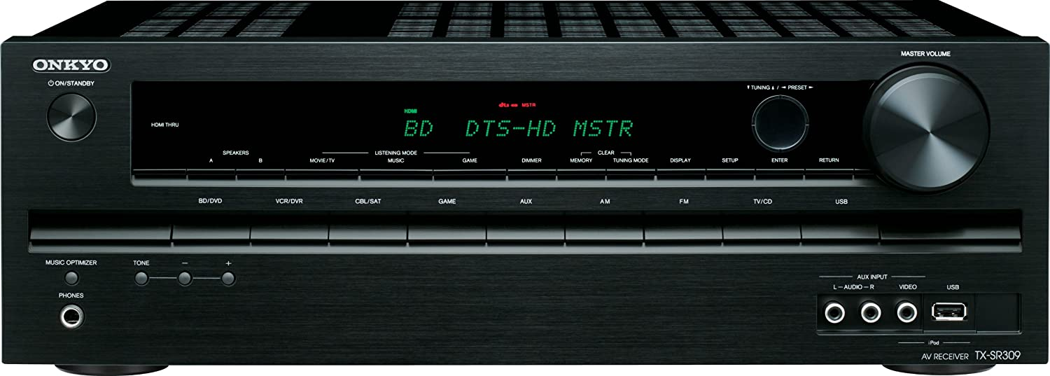 Onkyo TX-SR309 5 1 Channel Home Theater Receiver (Discontinued by  Manufacturer)