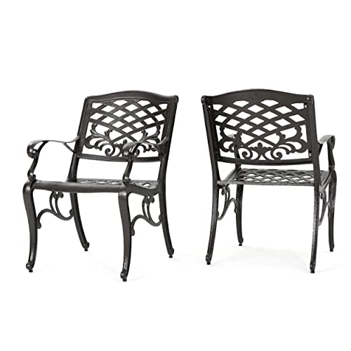 Christopher Knight Home 239073 Deal Furniture Covington Outdoor Cast Aluminum Dining Chair