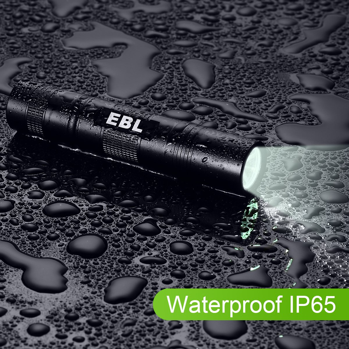 EBL LED Flashlight Night Riding Mini Size 5 Modes for Camping IP65 Water-Resistant Dog Walking LY-S004 Q5