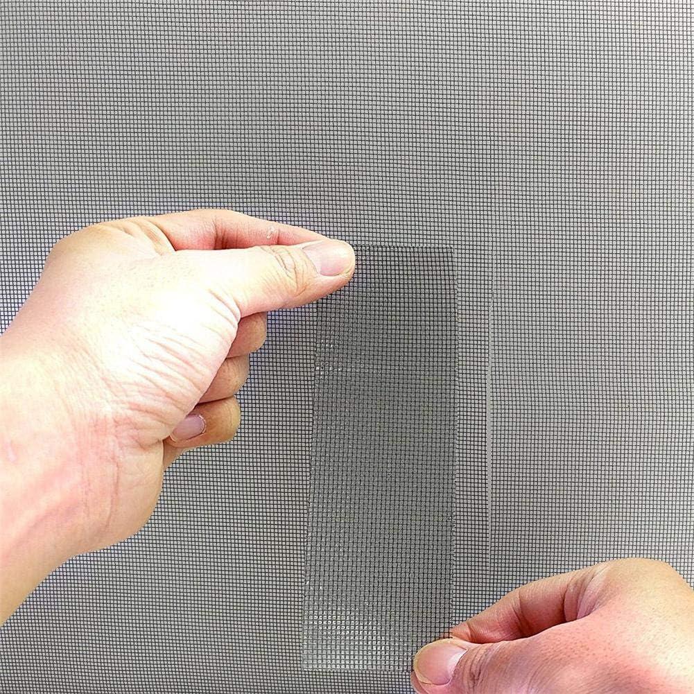 3 Couches Forte adh/ésif imperm/éable Couvrant des Trous d/échire instantan/ément Ruban de r/éparation /écran pour fen/être et Porte /écran Maille de Tissu de Fibre de Verre