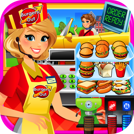 Drive Thru Simulator - Kids Mega City Fast Food Drive Thru, Diners & Burgers FREE (City Food)