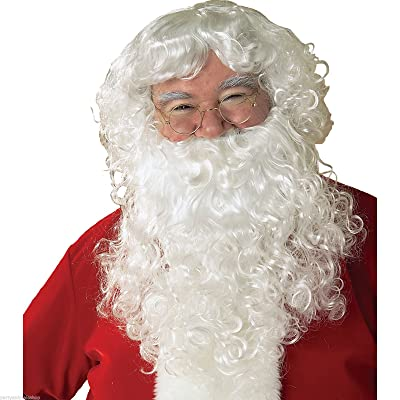 Economy Santa Wig & Beard Set Costume Accessory: Clothing