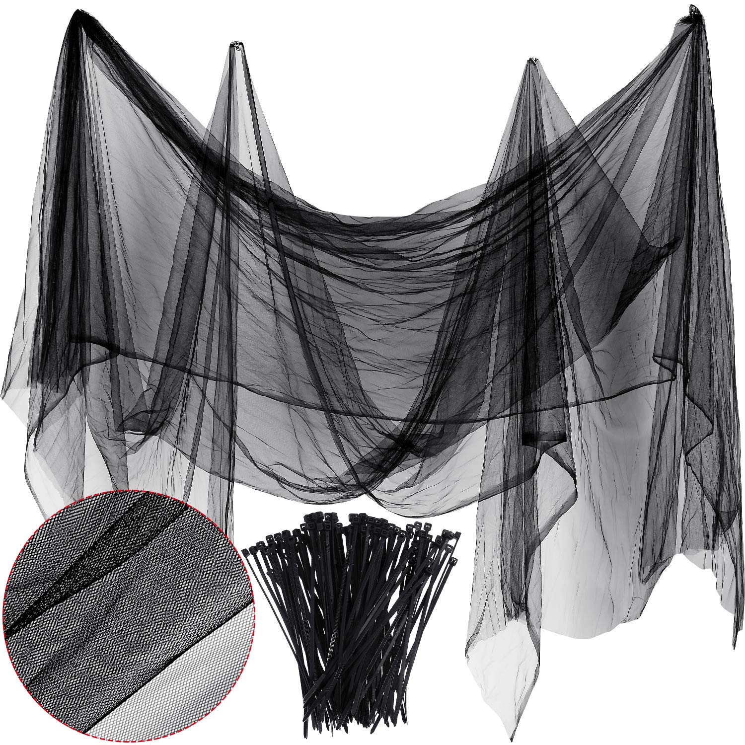Zonon Bug Insect Mosquito Fly Bird Net Barrier Hunting Blind Plant Protecting Garden Netting 3 m x 4 m, Black