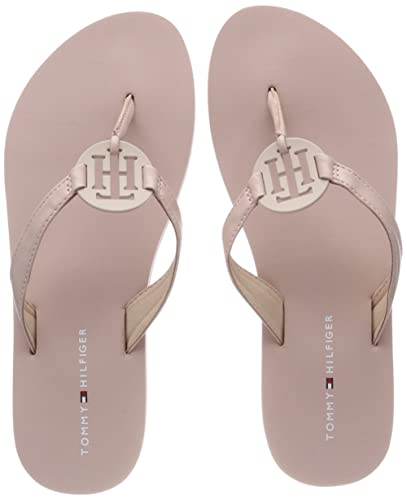 Tommy Hilfiger Damen Playful Hardware Beach Sandal Zehentrenner, Pink (Dusty Rose 502), 40 EU