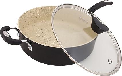La Tierra de piedra All-in-One sauce Pan por Ozeri, con 100% de apeo y sin stone-derived antiadherente revestimiento de Alemania