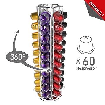 TavolaSwiss Vista de 60 dispensador de cápsulas para 60 Cápsulas Nespresso, 360 ° giratorio