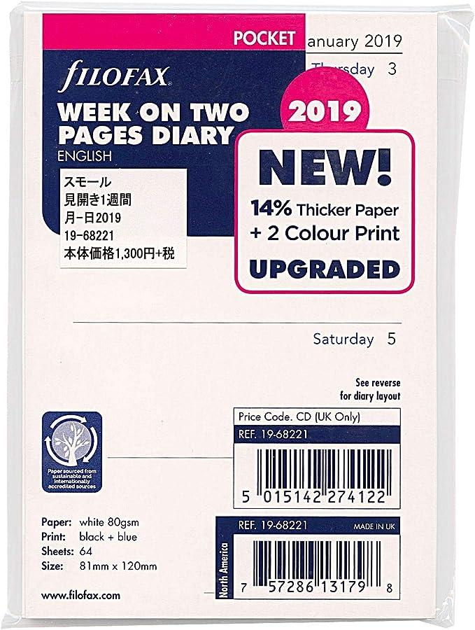Filofax Pocket Kalendereinlage 1Woche //1Seite cotton cream 21-68239