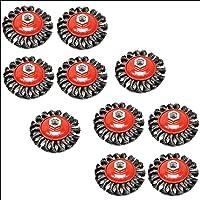 Paquete de 10 Twist nudo Cepillo de alambre/Rueda