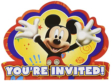 Amazon Com Amscan Disney Mickey Mouse Birthday Party Postcard