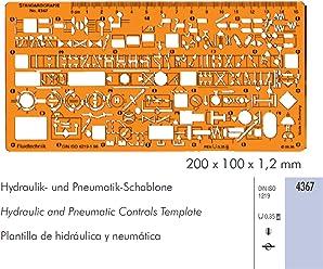 Hydraulik // Pneumatikschablone standardgraph Schablone 4367