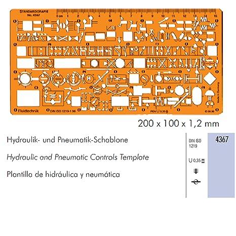 Neumático hidráulico Control de flujo líquido de símbolos de la plantilla diagrama plantilla
