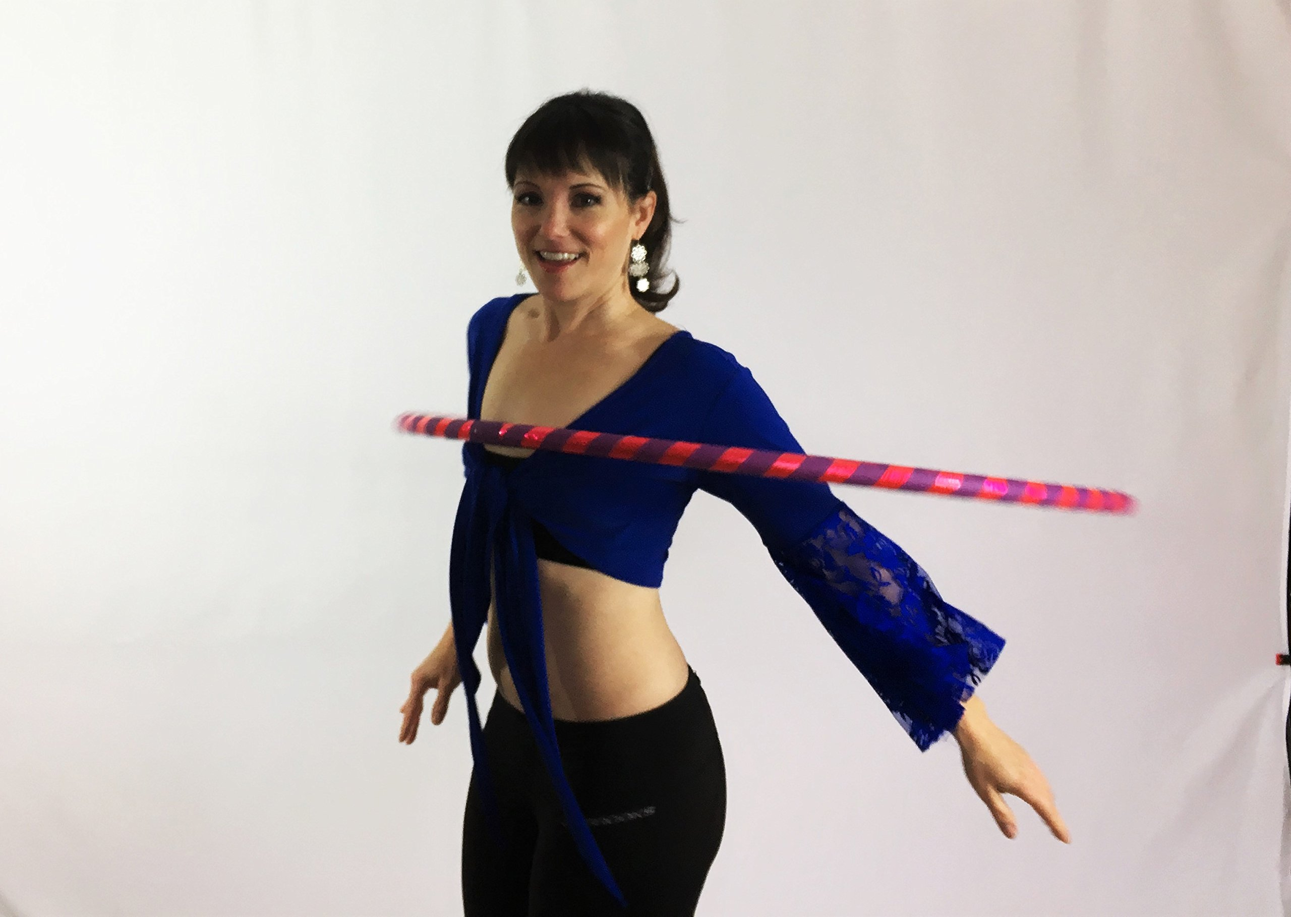 Weighted Hula Hoop for Exercise and Fitness - Glitter & Prismatic Tapes by Canyon Hoops (Image #4)