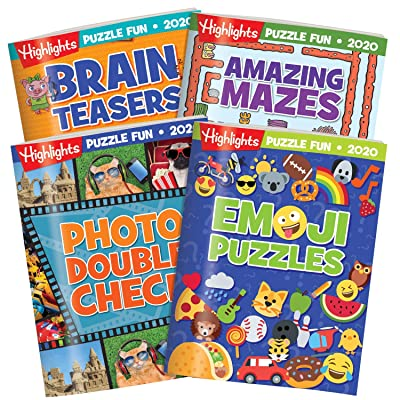 Highlights Puzzle Fun Collection 2020 4-Book Set: Toys & Games