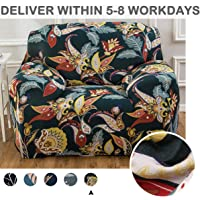 Cloudsky Couch Cover 1 Piece Printed Pattern Furniture Protector 1 Seater Stretch Sofa Cover Chair Slipcover for Living Room (Flower, Chair)