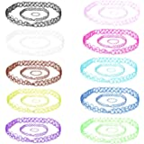 30PC Choker Stretch Gothic Tattoo Henna Necklaces Bracelets and Rings - Set of 10
