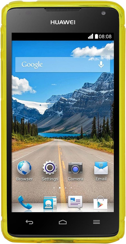 Luxburg® Housse Etui Coque Huawei Ascend Y530 Silicone Case TPU Jaune d'or