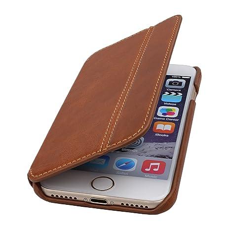 Lavadia Design Lederklapphülle Case Tasche Arizona Für Apple Iphone 7 8 Braun Aus Echtem Leder Mit Visitenkarten Und Geldfach Dünne Ledertasche
