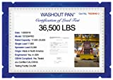 WASHOUTPAN PRO Certified Steel Containment Utility