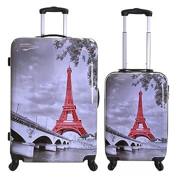 Karabar Falla Conjunto de 2 Maletas duras, Torre Eiffel: Amazon.es: Equipaje