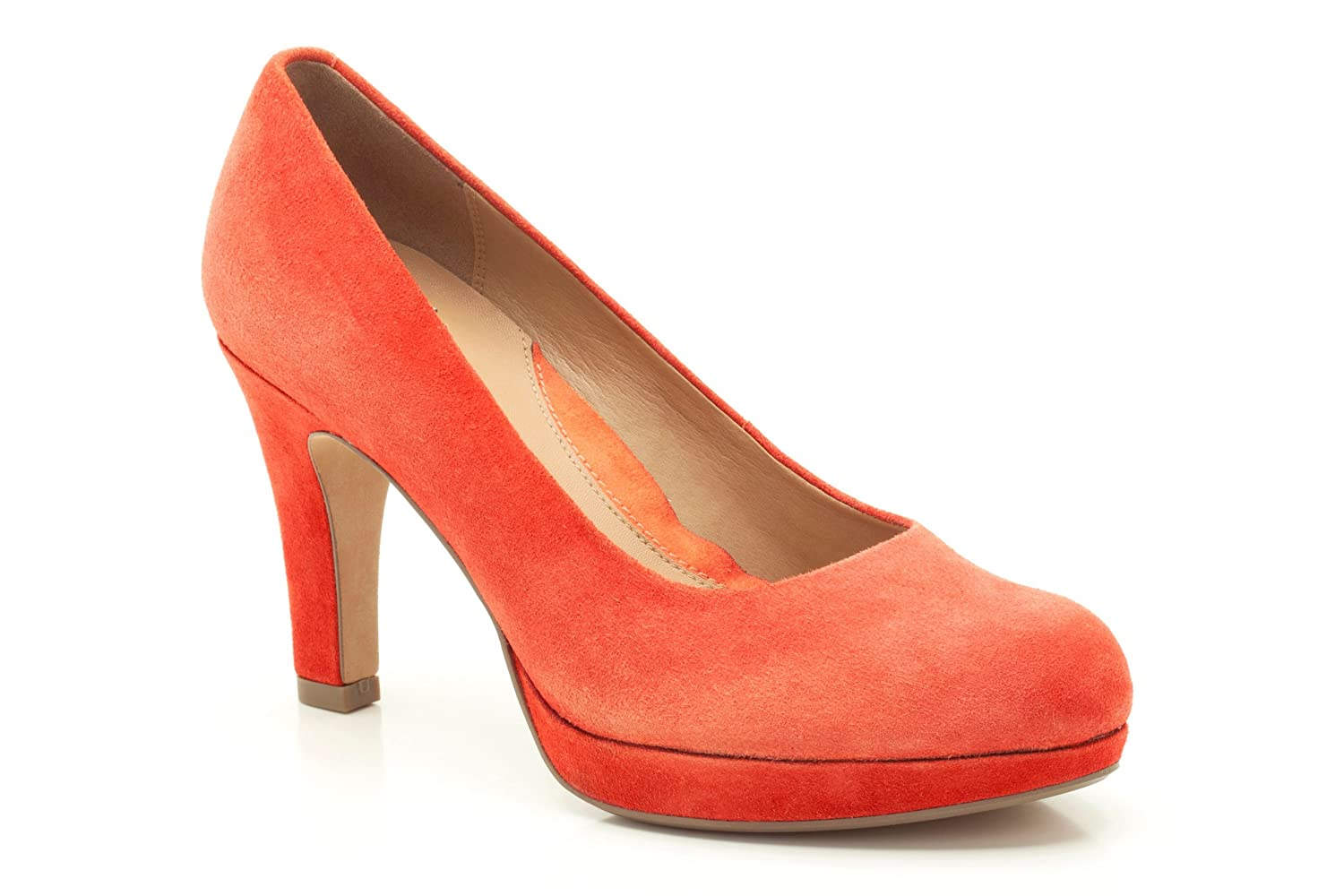 452ce48c27b Clarks Womens Smart Clarks Anika Kendra Suede Shoes In Orange Wide Fit Size  6  Amazon.co.uk  Shoes   Bags