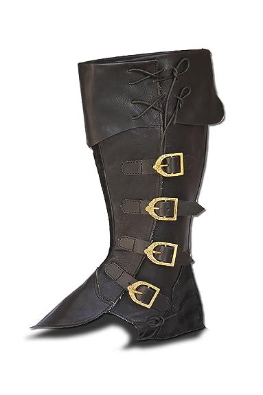 CP Schuhe Larp Ghette Ghette Moschettiere Medioevo Carnevale