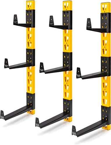 Dewalt 3-Piece Wall Mount Cantilever Rack for Workshop Shelving Storage, Multi-Depth Storage, Supports a Total of 273 lbs.