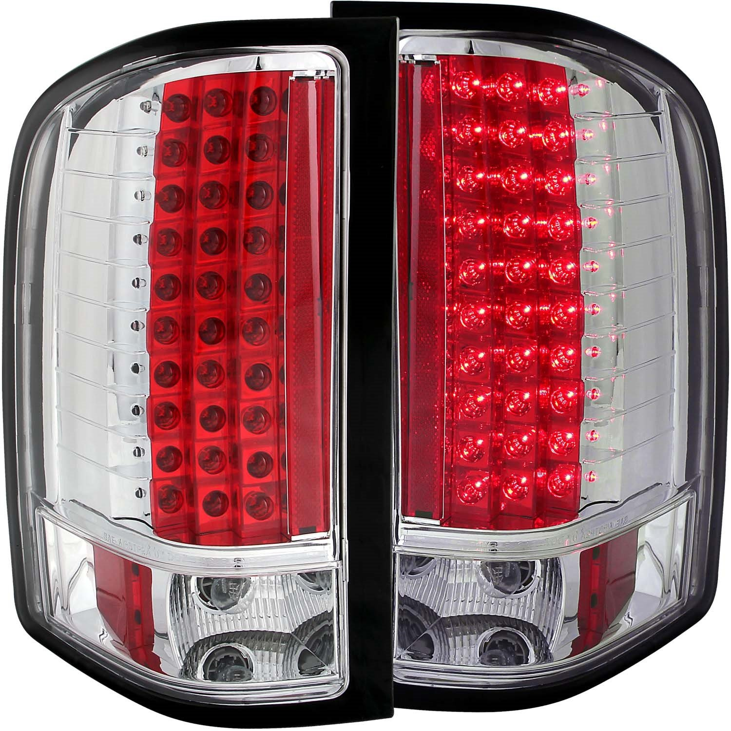 Anzo USA 311080 Chevrolet Silverado Chrome LED Tail Light Assembly Sold in Pairs