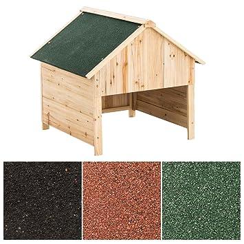 CLP Caseta de Madera para Robots Cortacésped I Garaje de Madera para Cortacésped I Caseta Exterior Resistente a Rayos UV I Color: Verde: Amazon.es: Jardín