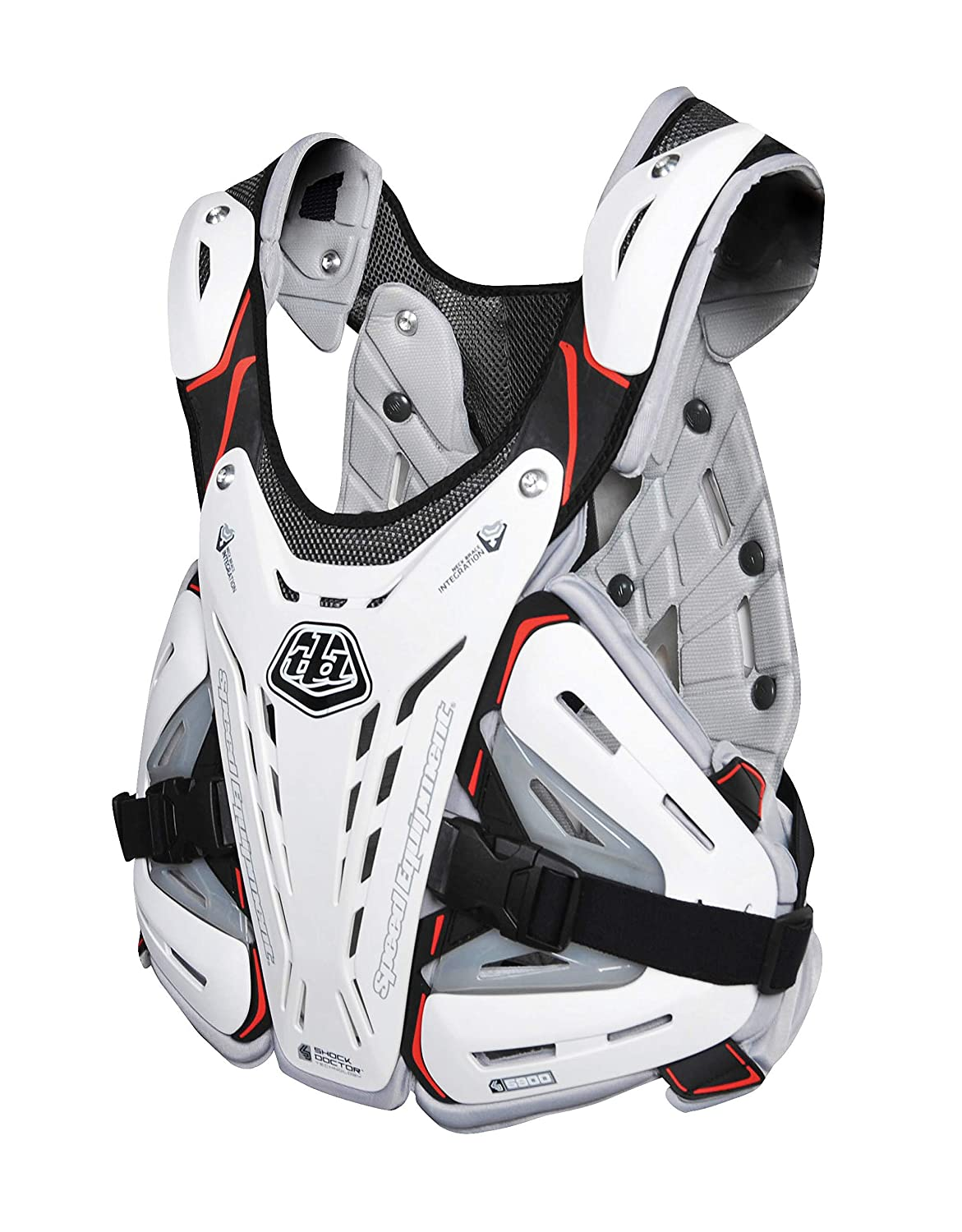 Troy Lee Designs CP 5900 Adult Roost Guard MX Motorcycle Body Armor Medium White