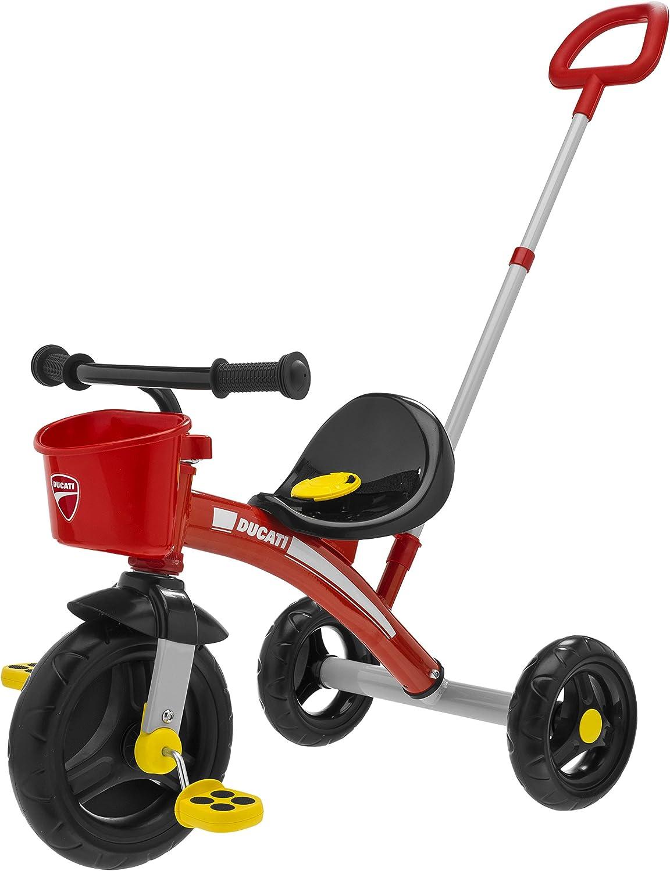 Chicco - Triciclo U-Go Ducati 2 en 1, con o sin asa, MAX. 20 kg, Color Rojo