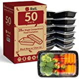 Reli. Meal Prep Containers, 28 oz. (50 Pack) - 1 Compartment Food Containers with Lids, Microwavable Food Storage Containers