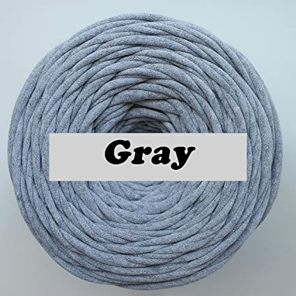 Amazon T Shirt Yarn Gray 40 Meters Cotton Crochet For Making Cool T Shirt Yarn Pouf