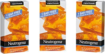 18-Count (6 x 3-Count) Neutrogena Transparent Unscented Facial Bars