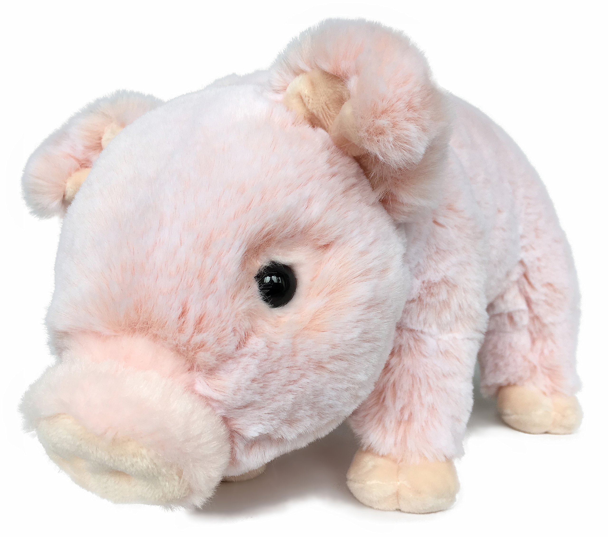 Ice King Bear Lifelike Baby Pig Stuffed Animal Piggy - Piglet Plush Toy - 13 Inches Length (Original) by Ice King Bear