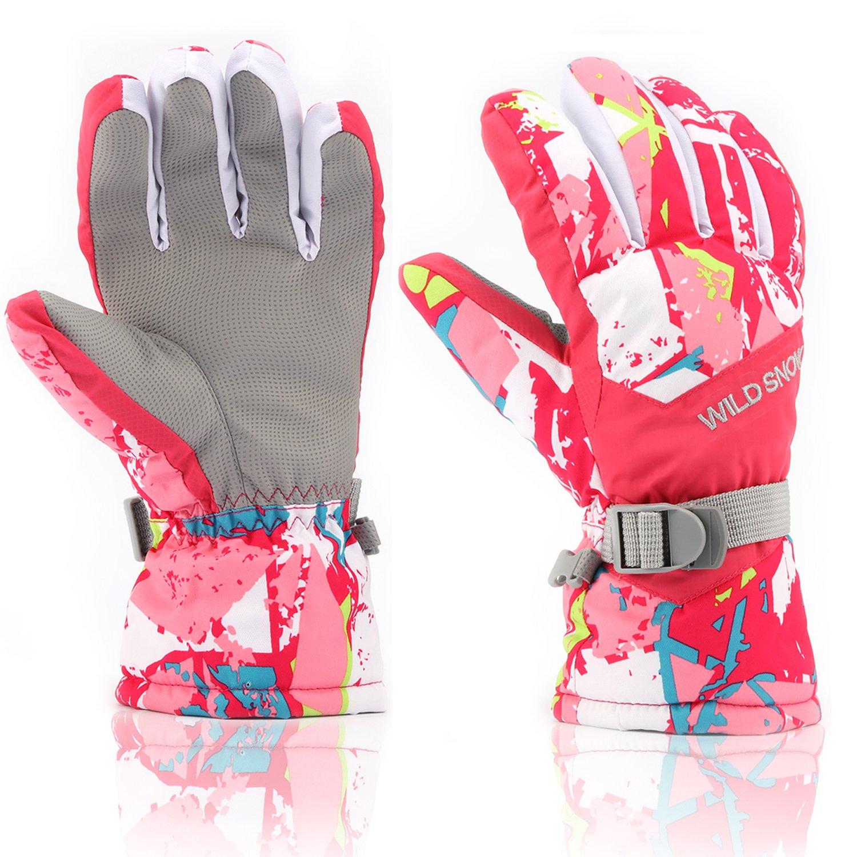 Hot Wild Snow Men And Women Children Ski Gloves Wind And Water Repellent Warm Breathable Ski Gloves Skiing Gloves