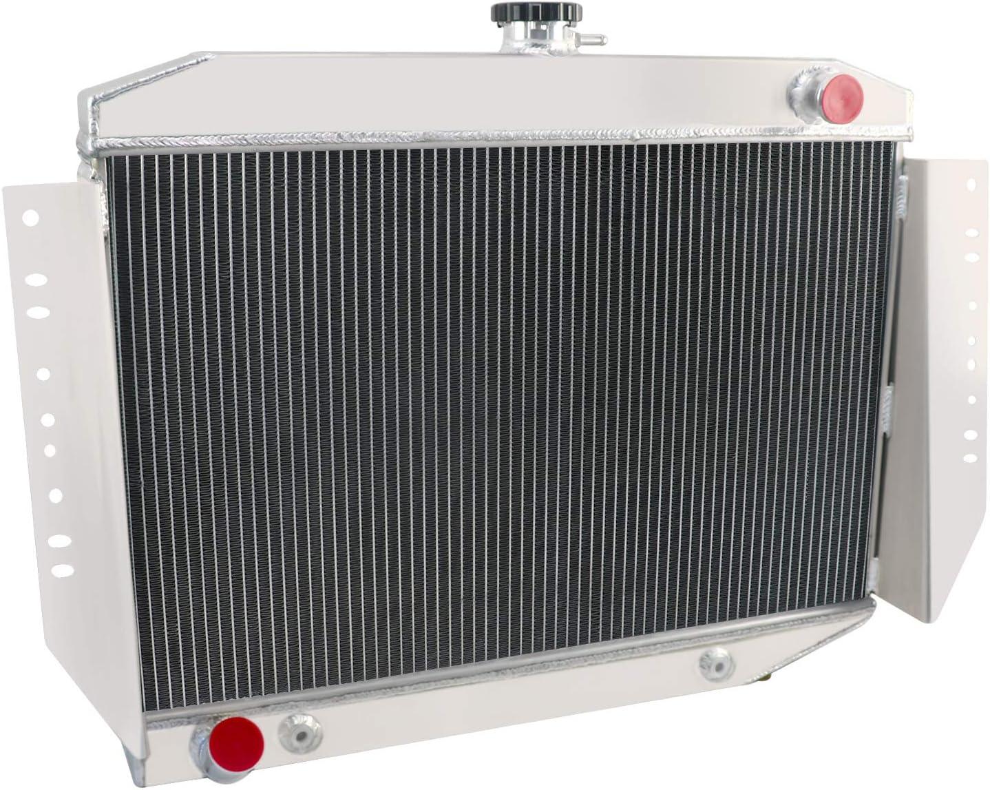 OzCoolingParts 4 Row Core All Aluminum Radiator for 1972-1979 73 74 75 76 77 78 Jeep Wagoneer//Cherokee//J-2500//J-2600//J-4500//J-4600//J-4700//J-4800//J10//J20//J-100 5.9L V8