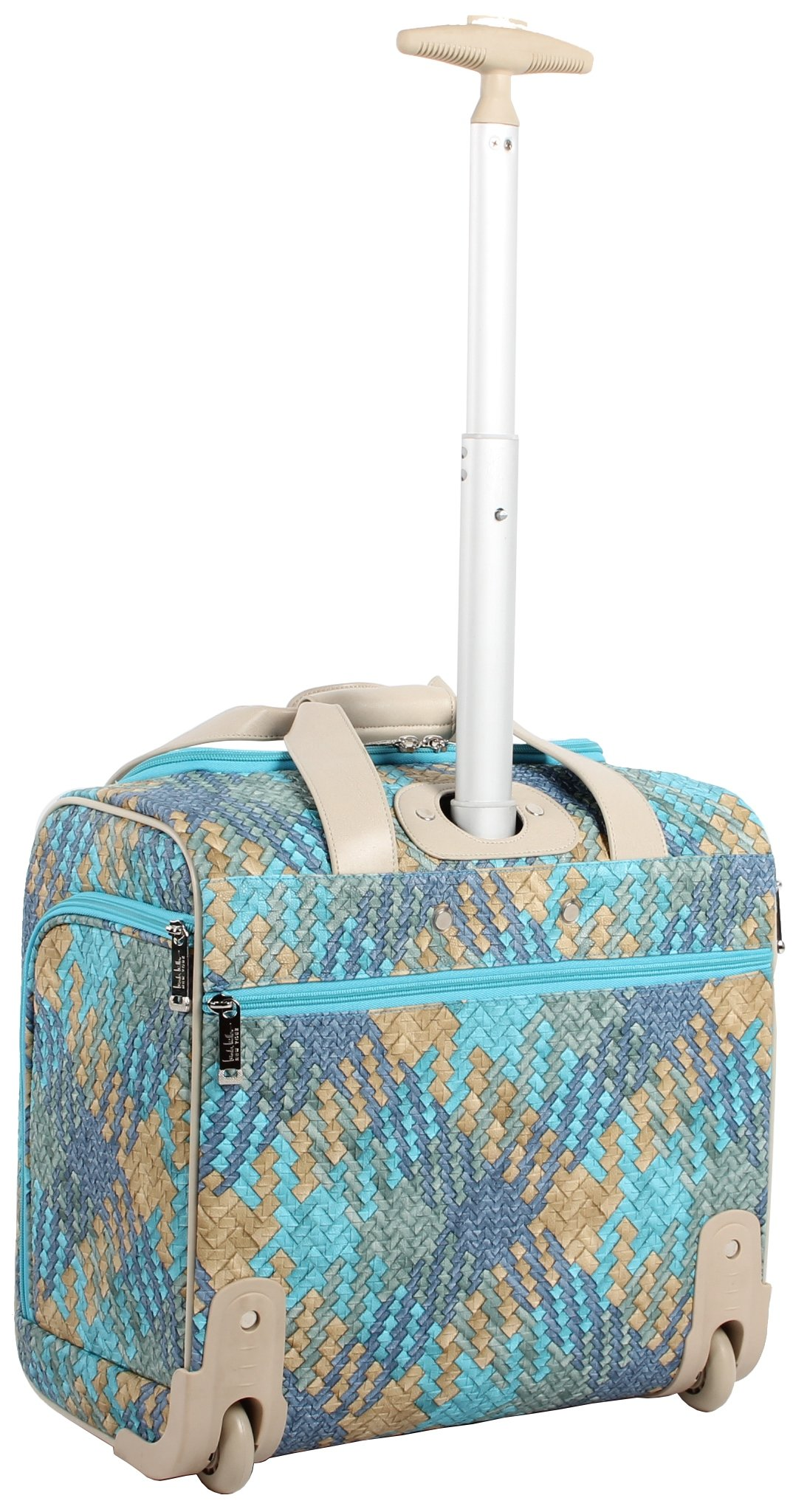 Nicole Miller Taylor Collection 15'' Under Seat Bag (Woven Teal) by Nicole Miller (Image #3)