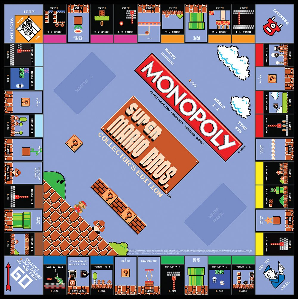 Amazon.com: Monopoly: Super Mario Bros Collectoru0027s Edition Board Game:  Game: Toys U0026 Games