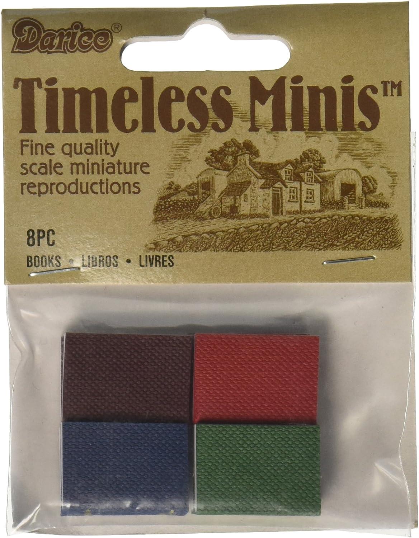 6 Pack Timeless Miniatures-Books 8//Pkg
