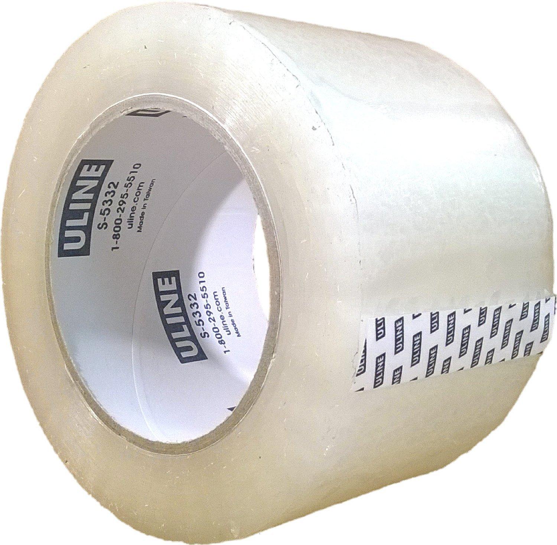 "5 Rolls S-445  3/"" X 110 Yards Clear 2 Mil Uline Industrial Tape"