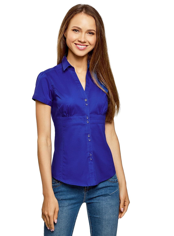 oodji Ultra Mujer Camisa con Cuello Pico Vuelto: Amazon.es: Ropa y accesorios